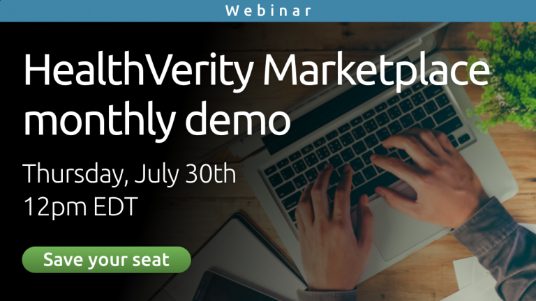 HealthVerity Marketplace Monthly Demo - July