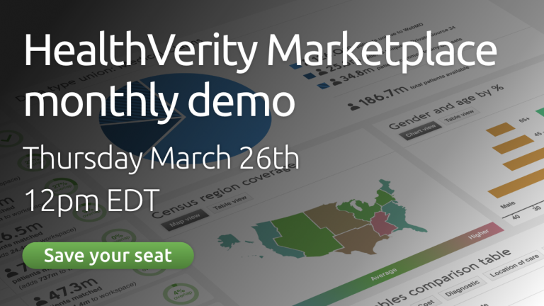 HealthVerity Monthly Marketplace Demo