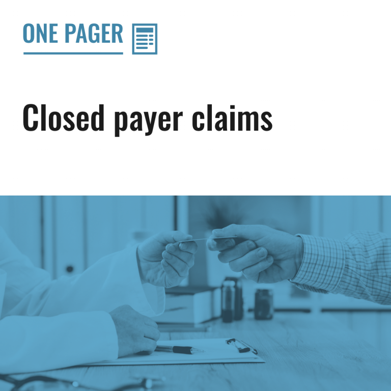 Closed payer claims
