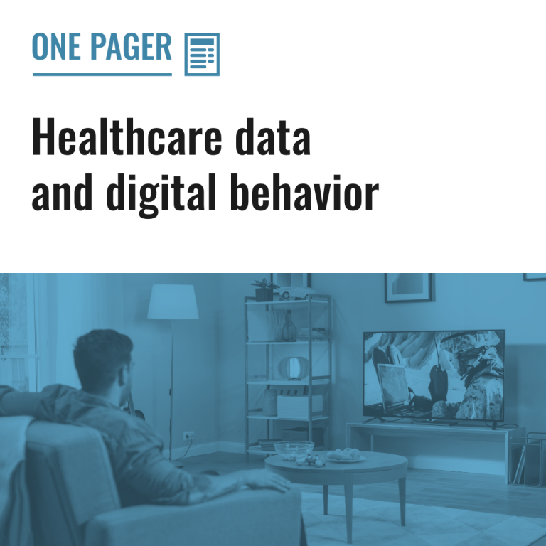 Healthcare data and digital behavior