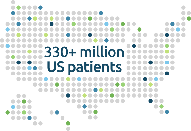Map Graphic: 330 plus million US patients